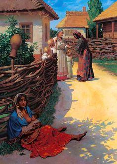 """The fortune teller"". 1996 by Nikolai Vladislavovich Bessonov: History, Analysis & Facts Boho Life, Gypsy Life, Gypsy Soul, Santa Sara, Gypsy People, Gypsy Culture, Vampire Stories, New Fine Arts, Renaissance Paintings"