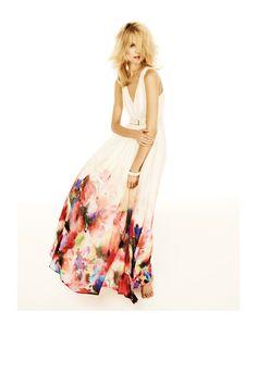 Une robe longue aquarelle