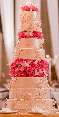 Fancy Cakes by Leslie DC MD VA wedding cakes Maryland Virginia Washington. I like the way it looks like satin. Cheap Wedding Cakes, Extravagant Wedding Cakes, Fancy Wedding Cakes, Wedding Anniversary Cakes, Beautiful Wedding Cakes, Wedding Cake Designs, Wedding Desserts, Fancy Cakes, Beautiful Cakes