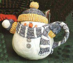 *SNOWMAN ~ teapot