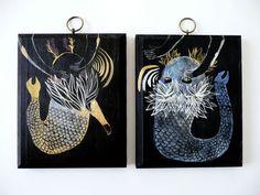 emma kidd - gold + blue sea monsters