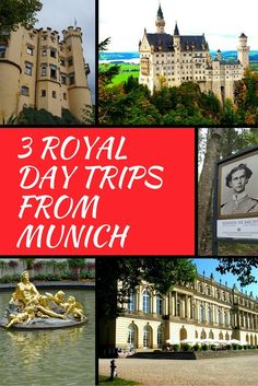 King Ludwig II is responsible for many of the great palaces and castles in Bavaria. Take 3 royal day trips from Munich to his amazing royal residences . Neuschwanstein, Hohenschwangau, Linderhof and Herrenchiemsee.