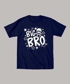 Take a look at this It's Just Me Navy 'Big Bro' Tee - Toddler & Boys on zulily today!