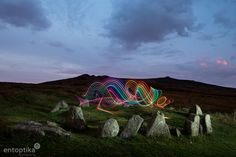 Nine Stones Colours Dartmoor, Light Painting, Seventeen, Stones, Colours, Mountains, Nature, Travel, Rocks