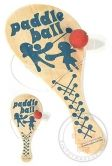 Bolo Paddle Ball : Wooden Classic Game : Retro Graphics