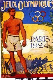 Paris Olympics 1924 vintage poster (www.leshiboux.com)