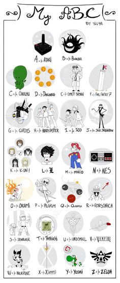 The geek alphabet. I need a version a little less heavy on video game geekness. And, clearly, D is for Doctor Who.
