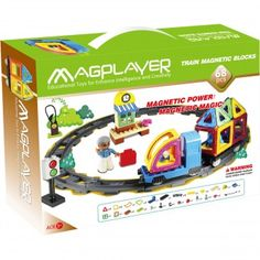 Magazin jucarii magnetice MAGPLAYER Magnets, Train, Playmobil, Strollers