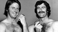 Lillee and Thompson Jeff Thompson, Fast Bowling, World Cricket, Cricket Sport, Sports Stars, World Series, Hairy Men, Rugby, Nostalgia