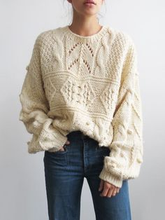 Uruguay Knit Sweater // Vintage Hand Knit Sweater SOLD Hello, Start knitting the model of a… in 2020 Knitwear Fashion, Knit Fashion, Flannel Lined Jeans, Corporate Wear, Hand Knitted Sweaters, Cable Knit Jumper, Cozy Knit, Knit Cowl, Women's Sweaters