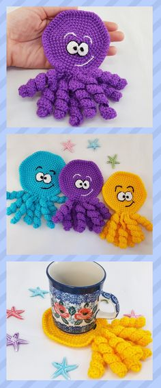Octopus decor Octopus coaster Octopus decoration Sea Animals Under The Sea Ocean toy Kids party favors Sea party Summer decor Octopus favors