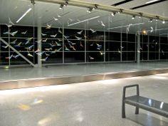 Flight Wave - Arlon and Mary Jo Bayliss, Indianapolis International Airport. International Airport, Public, Waves, Artwork, Image, Work Of Art, Auguste Rodin Artwork, Artworks, Ocean Waves