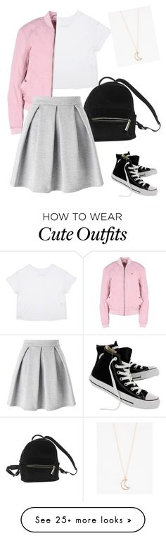 """Simple & Cute"" by keana-browne on Polyvore featuring Converse, Urban Outfitters, Hilfiger Denim, Miss Selfridge and Full Tilt"