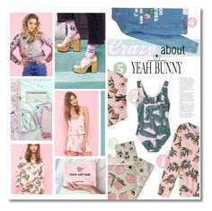 """""""Peaches&cream"""" by sunshineb ❤ liked on Polyvore featuring Yeah Bunny"""