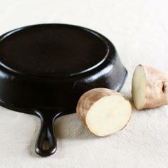 Remove rust from pans and pots with a potato! #ecotips  via The Kitchn