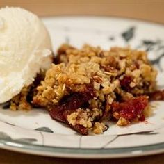 "Apple-Cranberry Crisp | ""A wonderful combination of apples and fresh cranberries with a crisp, pecan topping."""