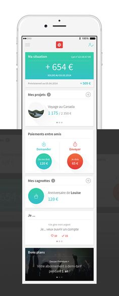 Loves Data Loves || User Interface || #UI #app #design #ux || Howizi, La Caisse d'Epargne on Behance