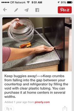 Keep out crumbs...and bugs