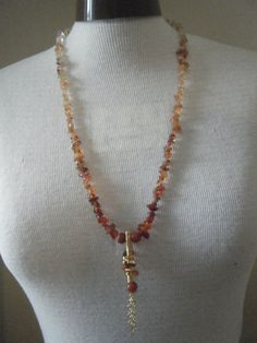 Carnelian Chip Graduated necklace and Wire Work by Blandsgill, £7.50