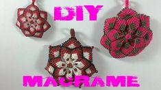 DIY - Tuto FR / Pendentif Mandala en macramé