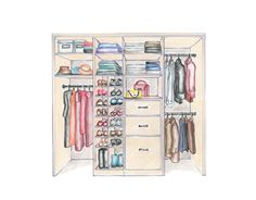 Lack of closet space is an almost universal complaint, but more often than not the real problem is a matter of how the existing space is used. House Beautiful shows you how to design the perfect closet for your needs. How To Organize Your Closet, Creative Closets, Master Bedroom Closet, Master Suite, Hanging Clothes, Closet Shelves, Dream Closets, Closet Designs, Closet Space