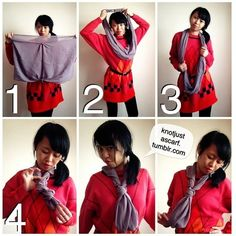 KNOT JUST A SCARF: Scarf Tying and Styling Blog — 120+ Ways of How To Wear A Silk Scarf!
