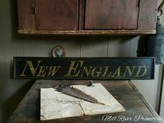 Early Primitive Antique looking NEW ENGLAND by MillRiverPrimitives