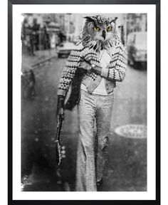 Owl Man VON John Keddie now on JUNIQE!