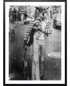 Owl Man VON John Keddie now on JUNIQE!