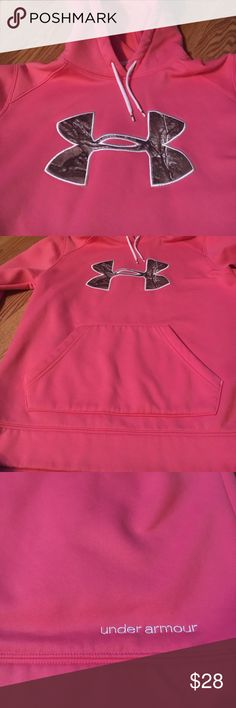 Under Armour semi-fitted sweatshirt Under Armour Semi-fitted coldgear pink camo symbol size small sweatshirt. Under Armour Tops Sweatshirts & Hoodies