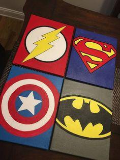 Items similar to Superhero Canvas on Etsy Canvas Etsy Items similar superhero DiyAbschnitt Diy Abschnitt # Kids Canvas Art, Cute Canvas Paintings, Small Canvas Art, Easy Canvas Painting, Diy Canvas, Diy Painting, Acrylic Paintings, Superhero Canvas, Marvel Canvas