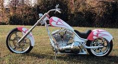 Harley Davidson isn't the only one who produces bikes for women. If they want, women can design their own custom chopper through other companies that can provide custom wheels, paint jobs, handlebars, and more. (Photo by HowStuffWorks)