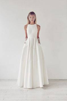 2017 bridal collection by Suzanne Harward.Oh be still my beating heart!Is this a wedding dress with pockets?Love this!