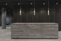 Reception. Office interior project by ARCH(E)TYPE. #archetype #reception #office #interior #lightning #apparatus
