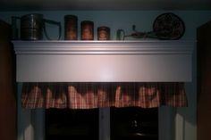TracyP Creates: Kitchen Update - wooden valance