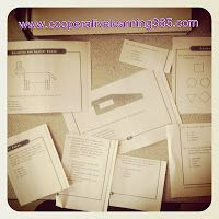 Take released test items, cut them up, and have an instant cooperative learning review!