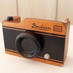Image detail for -Paperterie Poulain By Decole ----- Vintage Camera Wood Tape Dispenser