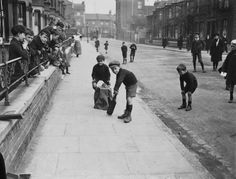 Hahnemuhle PHOTO RAG Fine Art Paper (other products available) - March Young boys playing cricket in a London street. (Photo by Central Press/Getty Images) - Image supplied by Fine Art Storehouse - Fine Art Print on Paper made in the UK Fine Art Prints, Canvas Prints, Framed Prints, London History, London Street, Historical Photos, London England, Poster Size Prints, Cricket