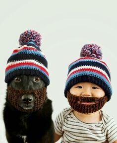 2fb4c2862def Mütze mit Bart Mignon, Baby Animals, Cute Animals, Funny Animals, Fur Babies
