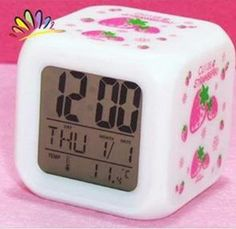 Strawberry seven color allochroism alarm clock large