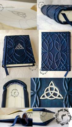 book making binding A beautifully made Elven Inspired book -- could do this with homemade (or store bought) notebook for a gift Celtic, Handmade Books, Handmade Journals, Handmade Notebook, Handmade Rugs, Handmade Crafts, Elvish, Journal Covers, Notebook Covers