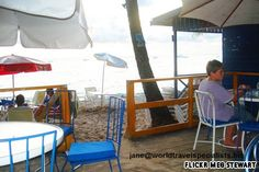 4 minute drive north of the Hotel Top ten beach bars. Ju-Ju's, St. James, Barbados  jane@worldtravelspecialists.biz