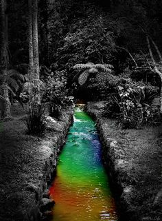 Rainbow-colored Water by ~HRML on deviantART
