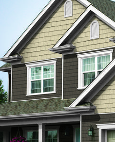Mix and match your home exterior by adding different textures.