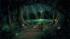 Znalezione obrazy dla zapytania dark magic forest