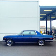 Blue Beauty - Mercedes Benz 280C W114 Coupe - photo by @lozinspace