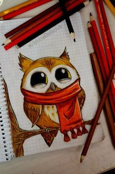 owl drawing | Tumblr! Really cute drawing!