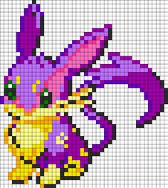 Eevee And Liepard Fusion bead pattern