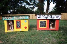 I LOVE THE BOLD COLORS!!! DIY dog houses
