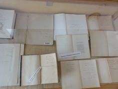 Vitrina con libros autografiados